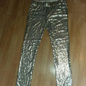 May & July sequin pants